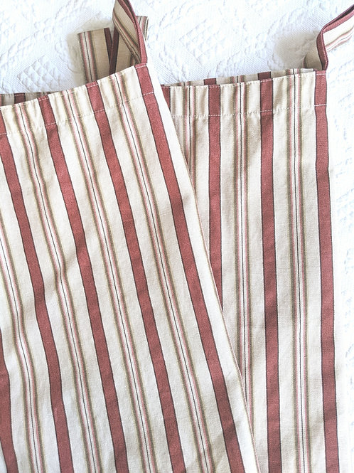 Waverly Norfolk General Store Stripes Curtain Panel Pair 79 x 41