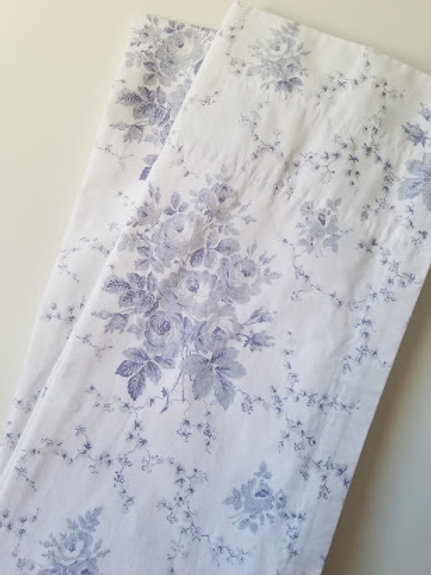 Laura Ashley Sophia Curtain Panels Lined Floral 84 x 40