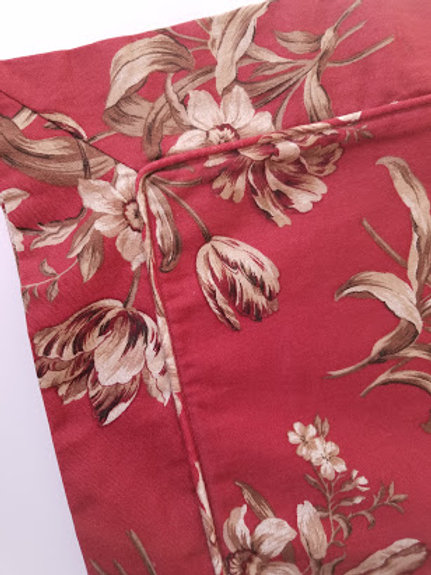 Peacock Alley Red Floral Euro Pillow Cover