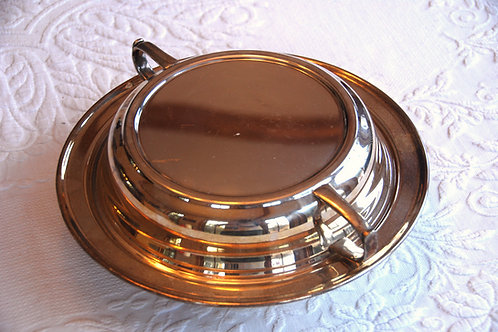 Silverplate Round Covered Vegetable Serving Dish