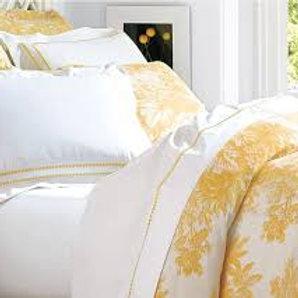 Pottery Barn Matine Marigold Cream Toile F/Q Duvet