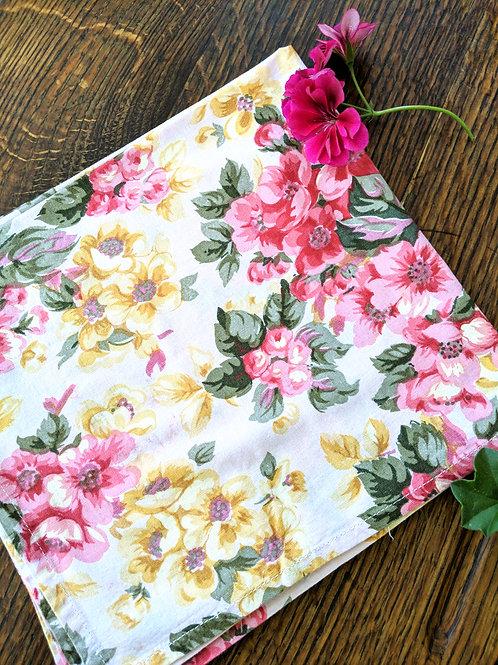 April Cornell Napkins~ Set of 2~Pink Yellow Green