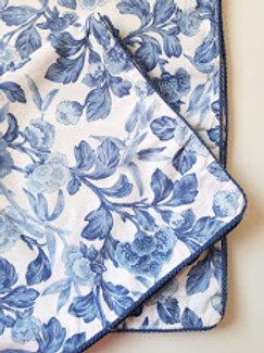 Ralph Lauren Adeline Floral King Sham Pair~Blues