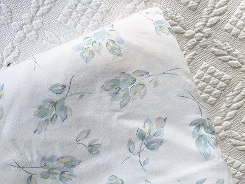 Eddie Bauer Queen Size Duvet White Blue Floral Portugal