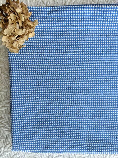 Ralph Lauren Queen Flat Sheet Blue Gingham Check