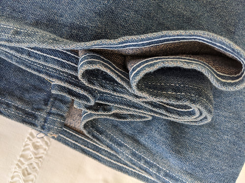 "Ralph Lauren Denim Full Bed Skirt 15.5"" Drop Pleated"