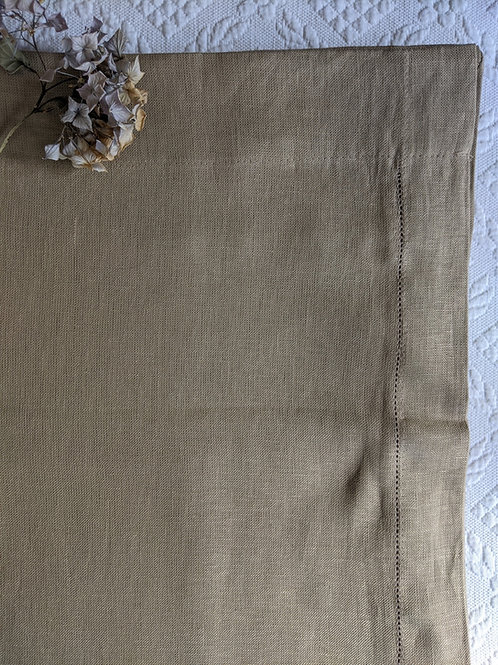 Nate Berkus Curtain Panel 100% Linen Color Brown Natural Boho Modern