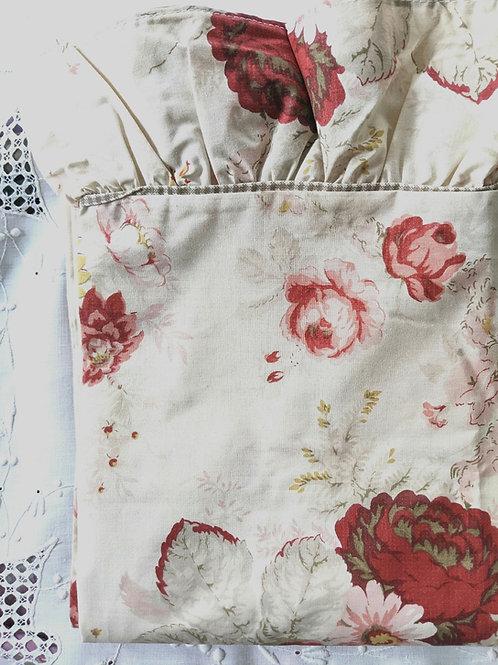 Waverly Norfolk Rose Twin Flat Sheet Ruffled