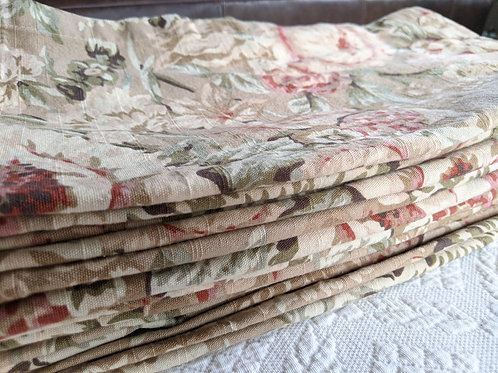 American Living Curtain Panel Floral Tan Pink Green