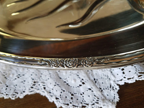 Camille Silver Plate Footed Meat Tray International Silver Company