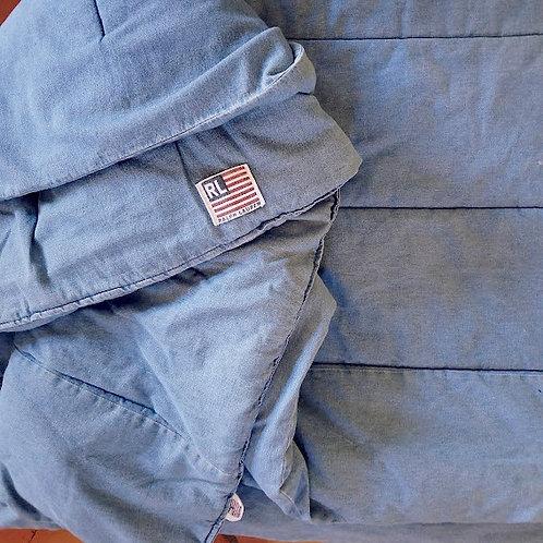 Ralph Lauren Denim Comforter Twin Reversible Flag Labels