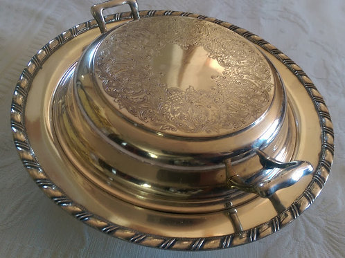 Gotham Silverplate Round Covered Serving Dish