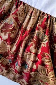 Ralph Lauren Jardiniere Rosselini Red Scroll Floral King Bed Skirt