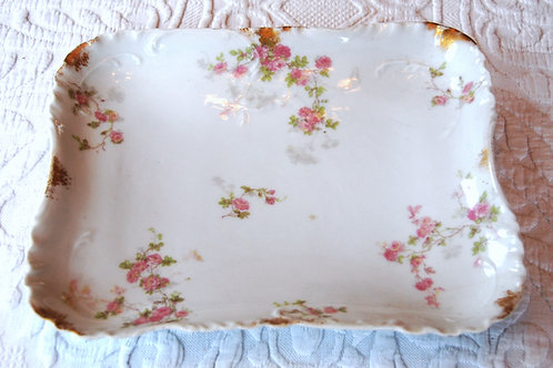 Haviland Limoges Small Rose Tray