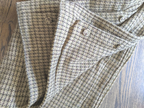 Ralph Lauren Hayden Paisley Brown Wool Houndstooth Plaid Sham Pair