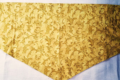 Waverly Bella Tuscany Concello Antique Gold Valance Leaf Scroll