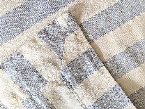 Ralph Lauren Striped Euro Sham Blue White Chambray