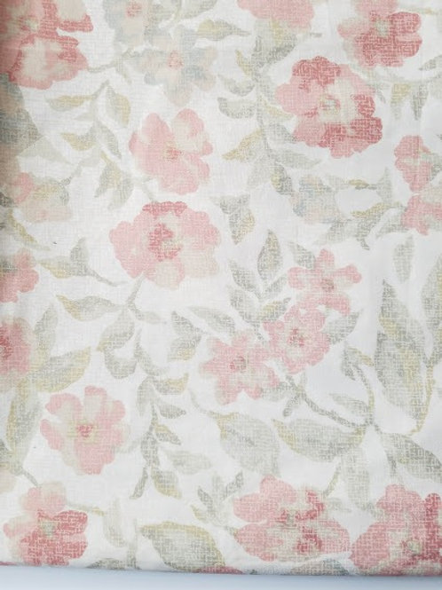 Eddie Bauer Watercolor Floral Coral Green Shower Curtain