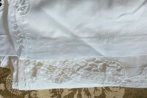 Battenburg Bed Skirt~Linen/Cotton~Full Size