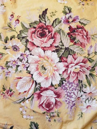 Ralph Lauren Sophie Brooke Queen Fitted Sheet Yellow Floral