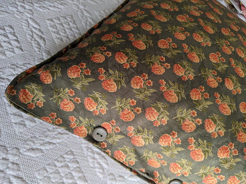 """April Cornell Green Coral Floral Pillow Cover 23"""" Square"""