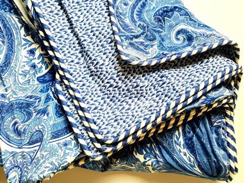 House N Home Full Duvet Cover Custom Blue White Floral