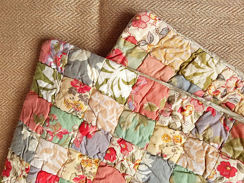 Pine Cone Hill Euro Shams~Patchwork Quilted