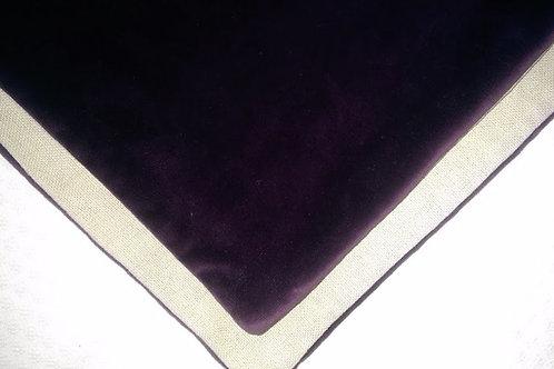 Pottery Barn Euro Sham~Purple Velveteen~Linen Backing