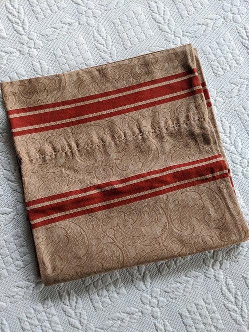 Ralph Lauren Bertrand King Case Tan Red Stripe