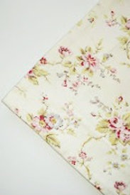 Pottery Barn Linen Cotton Euro Sham Pink Red Gray Flowers