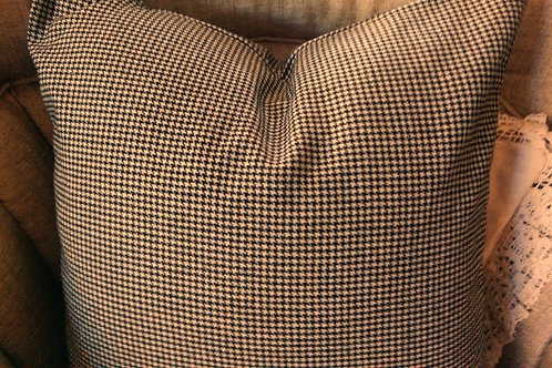 Ralph Lauren Chesterfield Ebony Houndstooth Wool Pillow