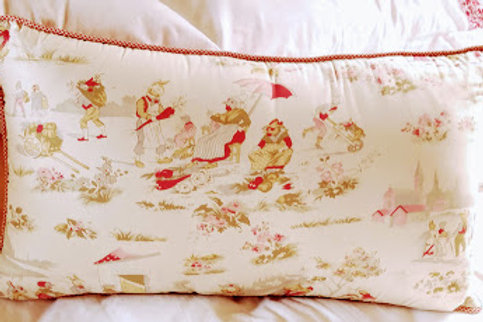 Peter Rabbit Baby Room Pillow Red Gingham Amy Coe