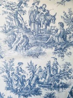 Waverly Wellington Sheer Toile Blue Cream Panel