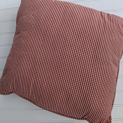 Waverly Garden Toile Red Gingham Mini Check Accent Toss Pillow