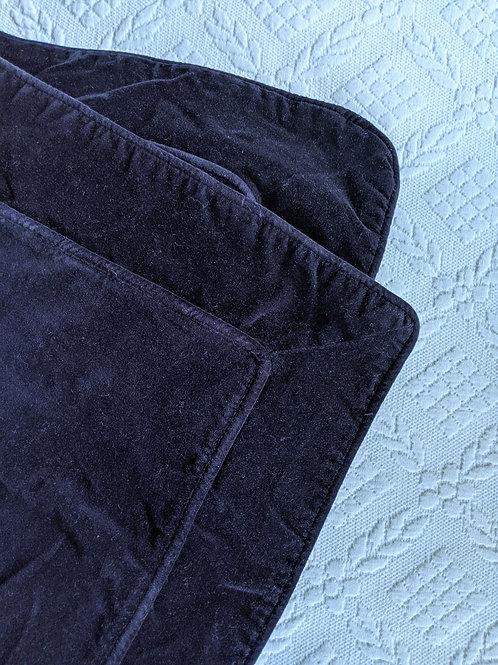 Hawthorne Eggplant Velvet Standard Sham Pair Cotton