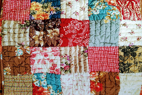 Providence Pottery Barn Std. Sham Pair~Patchwork~Toile, Floral, Plaid