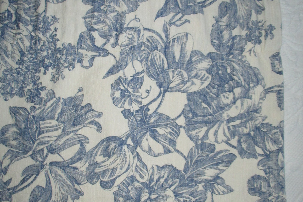 Waverly Valance French Floral Toile Blue Pair 68 Quot X 17 Quot