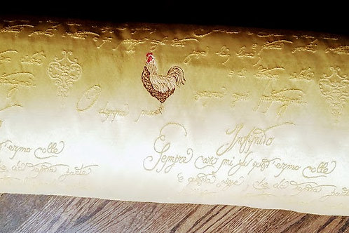 """Le Coq Rooster French Script Lumbar Custom Pillow 30"""""""