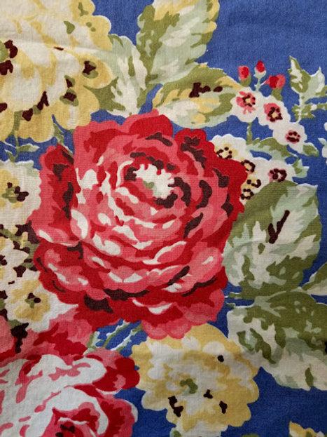 Eddie Bauer Rose Bouquet Twin Duvet Blue Floral Cottage One Sham