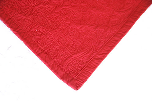 CHAPS Red Standard Quilted Pillow Shams Pair