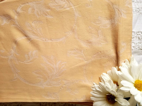 Jacquard Duvet King Cover~Italian~Creamy Apricot