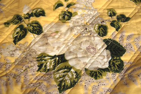 American Living Standard Shams Quilted Yellow Floral