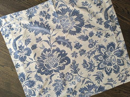 Pottery Barn Euro Sham Blue Block Print Linen