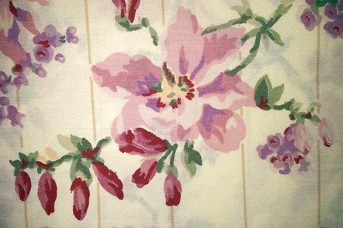 Vintage Floral Full Flat Sheet~Lovely!
