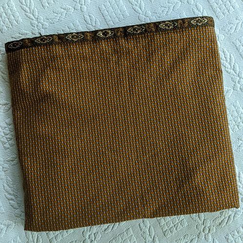 Ralph Lauren Village Mews Brown Copper Foulard Full Flat Sheet Case Pair