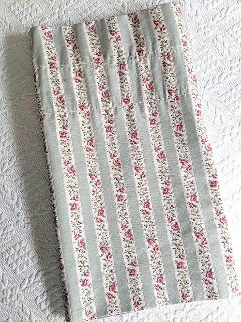 Laura Ashley Valance Floral Green Pink Stripes