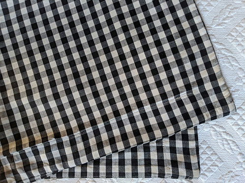 Gingham Standard Sham Pair Black White