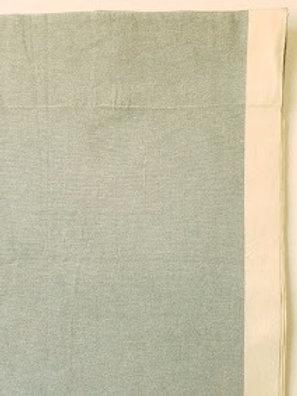 West Elm Organic Cotton Blue Drape Curtain Panel