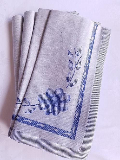 Le Telerie Toscane Napkins Floral Cloth Blue Set of Four