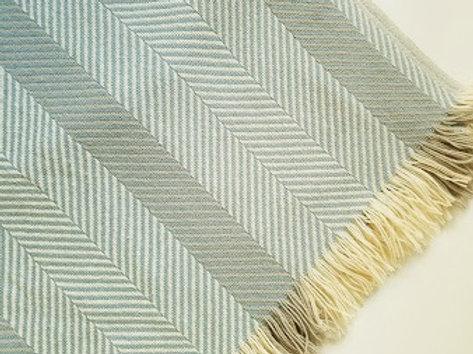 FARIBAULT Wool Plaid Lap Blanket with Fringe Morgan Oats~46 x 64